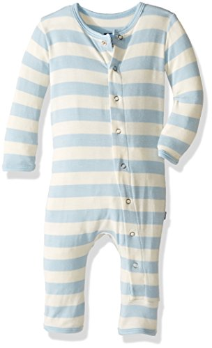 Kickee Pants Baby Boys' Essentials Print Fitted Coverall, Pond Stripe, 3-6 Months