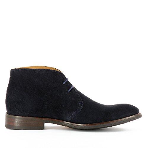 Evita Shoes Stefano Herren Schnürstiefelette Rauleder Blau