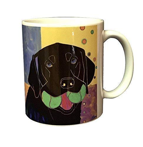 - Baller Black Lab Mug - Black Labrador 11 oz Coffee Cup by Angela Bond Art