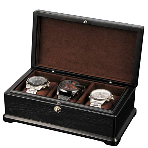 Watch Box for Men Women Luxury Jewelry Organizers Wristwatches Storage Display Case Bracelet Tray with 3 Pillows