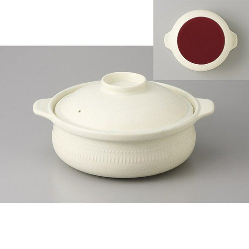 [mkd-883-22-43e] IH Tamba Electro-cooking Pot-huge direct fire [26 cm 3000 cc] Tsukiya Tsuki - IH-compliant soil pot -- 200 V OK OK Ryokan Japanese-style dish serving food service business by SETOMONOHONPO