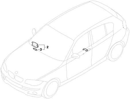 BMW Genuine Glove Box Light Lamp 1 3 Series X1 X3 X5 63316962045