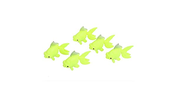 Amazon.com: eDealMax acuario pecera Aquascaping Giro de voladizo Goldfish Adorno de peces 5pcs: Pet Supplies