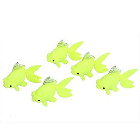 Amazon.com: eDealMax acuario pecera Aquascaping Giro de voladizo Goldfish Adorno de peces 5pcs: Pet Supplies