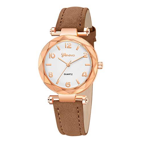 HunYUN Women's Diamond-Accented Bangle Watch Fashion Women 's Leather Band Geneva Analog Quartz Wrist Watch Watches