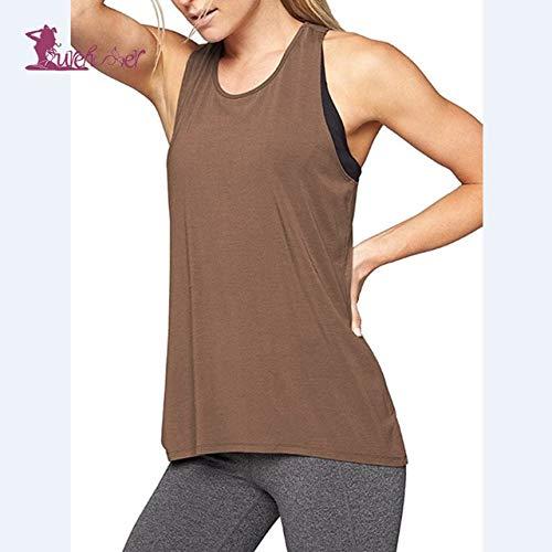 SGYHPL Yoga Shirts Yoga Top Damen Gym Sport Shirts Damen Shirt Fitness Bekleidung Damen Weste Ärmellose Laufbekleidung