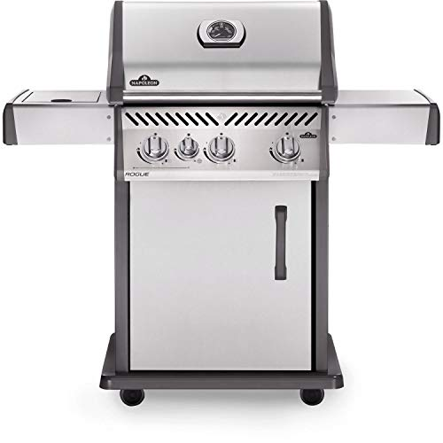 Napoleon Rogue 425 Freestanding Stainless Steel Gas Grill with Side Burner (R425SBNSS), Natural Gas
