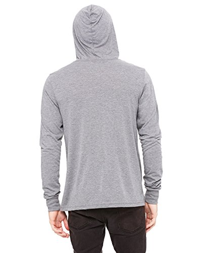 Pullover Hooded Bella (Bella Canvas Unisex Jersey Long Sleeve Hoodie, Grey Triblend, XX-Large)
