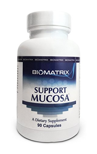 BioMatrix Support Mucosa 90 Capsules - Intestinal Repair, Heal Mucosal Barrier, Improve tight junction function, decrease food allergies and sensitivities, increase immune function, gut inflammation