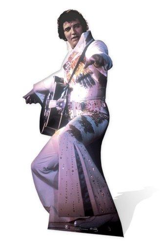 Elvis Stand - SC231 Elvis Presley White Jumpsuit Cardboard Cutout Standup