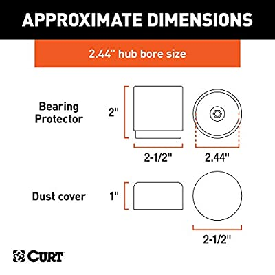 CURT 22244 2.44-Inch Bearing Protectors and Dust Covers, 2-Pack: Automotive