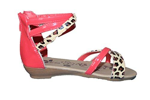 eva mode-spartiates sandales-rouge orangé-fille