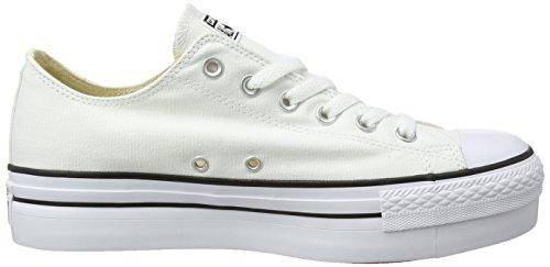 de Femme Blanc Bianco Gymnastique 540265c Chaussures Cassé Converse FaxqETw