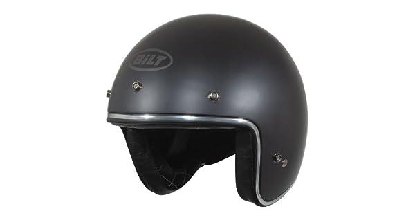 Amazon.com: Custom Bilt Casco de motocicleta de cara abierta ...