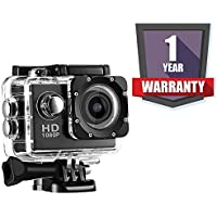 DRUMROAR 1080P 12Mp Sports Waterproof Camera with Micro Sd Card Slot, 2 Inch LCD Wide Angle and Multi Language