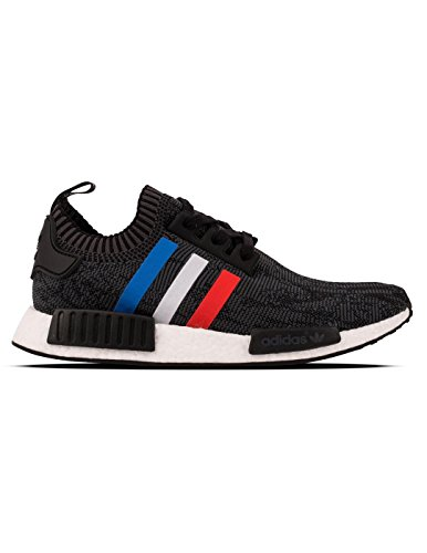 adidas Originals NMD_R1 PK Mens Running Trainers Sneakers Shoes Prime Knit (US 8.5, Core Black-Core Red-FTW White BB2887)
