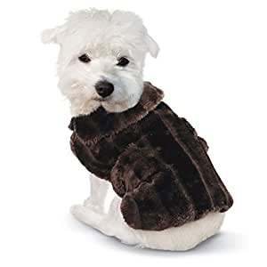Amazon.com : Faux Fur Winter Dog Coat Mink Medium : Pet
