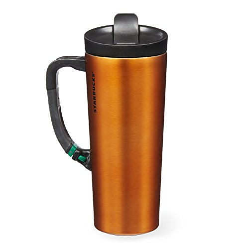 Starbucks Stainless Steel Clip Tumbler - Orange, 16 Fl (Starbucks Travel Coffee Mugs)