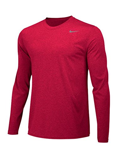 - NIKE Men's Team Legend Long Sleeve Training Top - University Red/Cool Grey - 727980-657 - SZ. Large