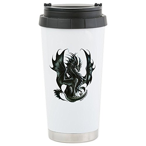 CafePress Rthompson's Obsidian Dragon Stainless Steel Tra...