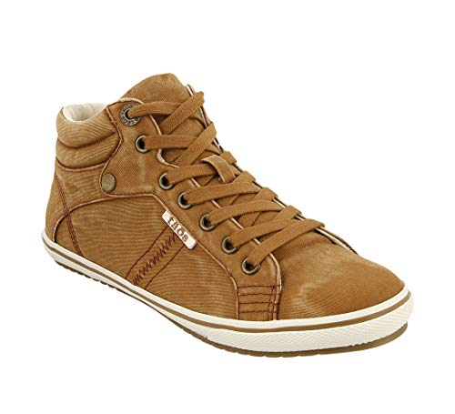 (Taos Footwear Women's Top Star Golden Tan Distressed Sneaker 10.5 M US )