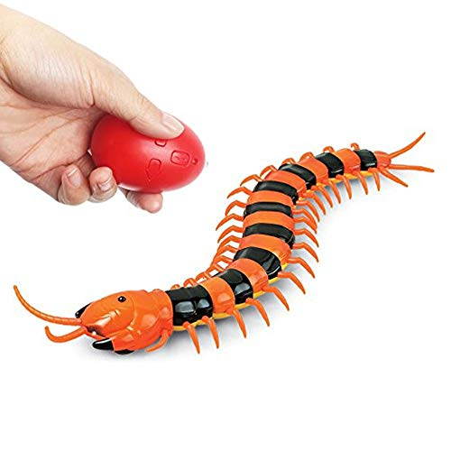 LUCKSTAR Remote Control Centipede Toy - Rechargable Electric Infrared RC Scolopendra - Simulation Fake Creepy-crawly Chilopod Toy for -