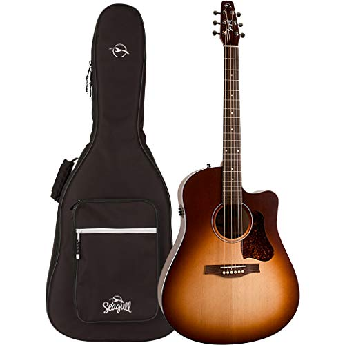 Seagull Entourage Autumn Burst CW QIT Cutaway Acoustic-Electric Guitar with Gig Bag (46478)