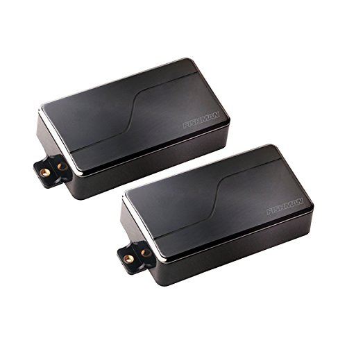 Ceramic Pickup - Fishman Fluence Modern Humbucker Alnico & Ceramic Pickups Set, Black Nickel