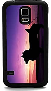 lintao diy Rikki KnightTM Australian Terrier Dog At Sunset Design Samsung? Galaxy S5 Case Cover (Black Rubber with front Bumper Protection) for Samsung Galaxy S5 i9600 hjbrhga1544