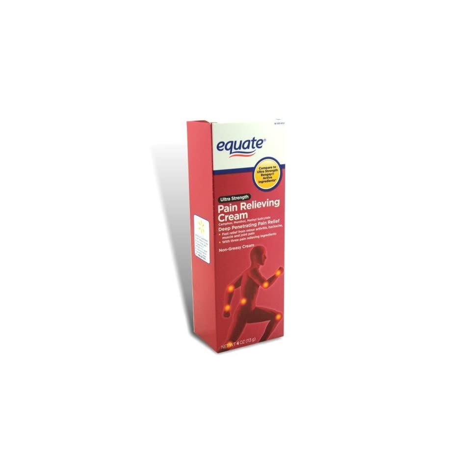 EQUATE MUSCLE RUB PAIN RELIEVING CREAM GEN. BENGAY 113g