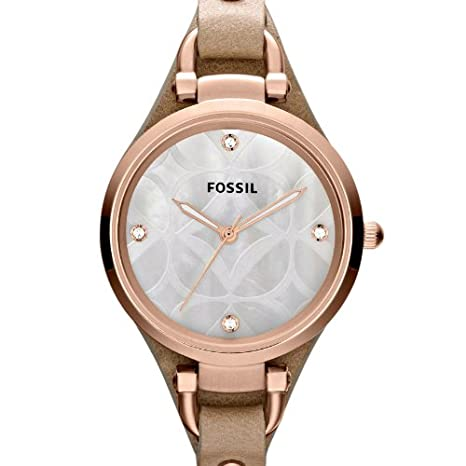 Amazon.com: Fossil Womens ES3151 Georgia Analog Display Analog Quartz Beige Watch: Fossil: Watches