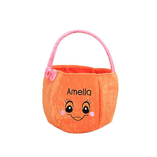Gbell Kids Halloween Candy Basket Toys Gift - Bats Pumpkin Basket Home Decor for Toddler Kids Girls Boys Bedroom Decoration,Supermarkets, Stores, Home, Hotels Decoration,1Pcs -