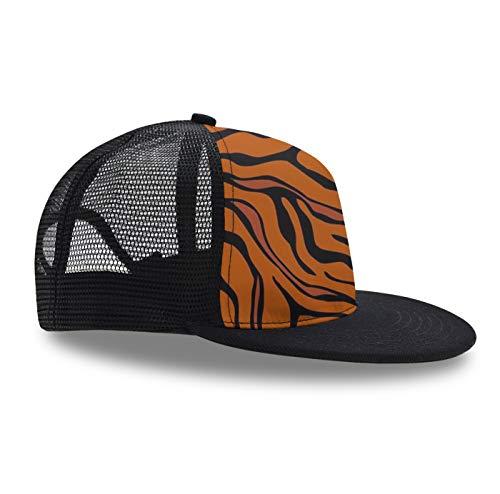- YongColer Unisex Snapback Hats, Adjustable Tiger Stripe Animal Printed Hip Hop Flat Bill Baseball Cap