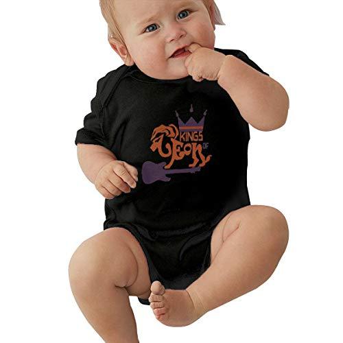 Kings of Leon Unisex Baby Leotard Cute Short Sleeve T-Shirt Black