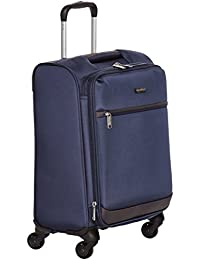 Softside Spinner Luggage, 18-inch Carry-on/Cabin Size, Navy Blue