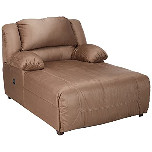 Ashley Furniture Signature Design   Hogan Contemporary Press Back Chaise    Tan
