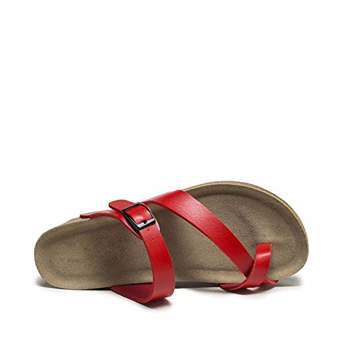 No. 55 Shoes Estate Lady Sandali Classica Discesa con Fondo Spesso Ciabattine,US6/EU36/UK4/CN36,Rosso