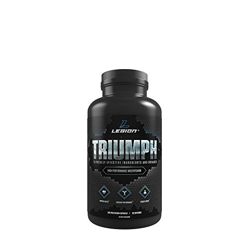 LEGION Triumph - Daily Multivitamin for Women and Men, Best Workout Multivitamin, All-In-One Bodybuilding Multivitamin with Minerals, Energy Multivitamin That Really Works - 30 Servings, 240 Capsules
