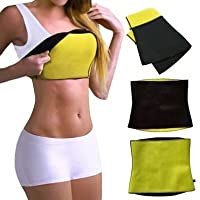 Saundarya Neoprene Shaper Belt for Men and Women (ES-HSB-BLACK)