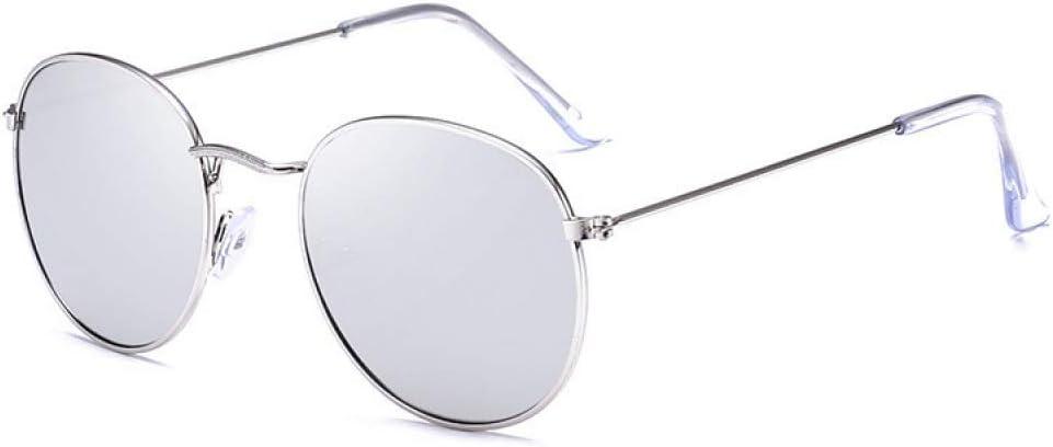 HYDYH Occhiali da soleOcchiali da Sole ovali Donne Occhiali da Sole con Montatura in Metallo Occhiali da Sole Femminili daDonna degli Accessori di Abbigliamento C6