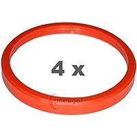 4x Anillo Central plástico 76.0mm a 66.6mm naranja
