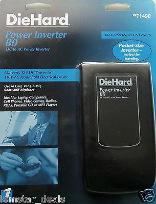 Diehard 80 Watt Power Inverter  Model 28 71490  One 110V Ac Outlet And One Usb Power Port