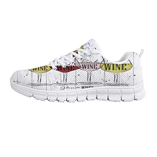 YOLIYANA Wine Jogging Running Shoes,Four Main Types of