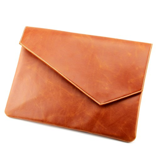 Men Business PU Leather Envelope File Bag Clutch A4 Document ()