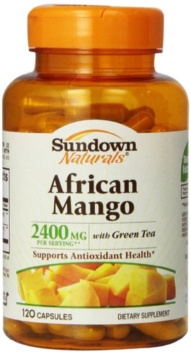 Sundown Naturals African Mango with Green Tea Mineral Supplement 120 Count