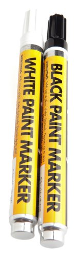 Forney 60310 Paint Markers, White/Black
