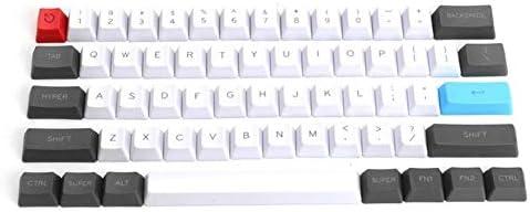 ポータブル デスクトップノートパソコンタブレット用のキーボード、61Pcsゲーミングキーボード、スタイリッシュなレトロなメカニカルキーボード 超薄型とサイレント
