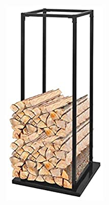 "K&A Company Log Rack & Carrier, Firewood Rack with Base 44.5"""