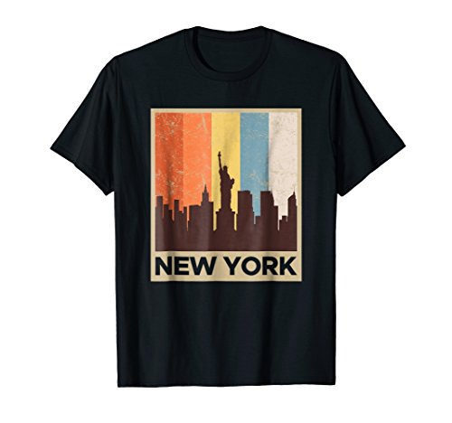 New York City Skyline Shirt Vintage Retro 70's NYC Graphic (Best Nyc Metro App)