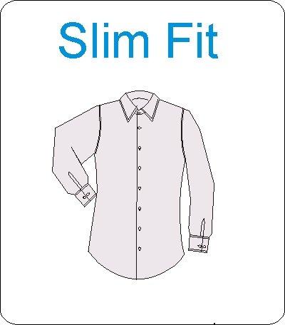 Herrenhemd, normale Armlänge, SLIM, weiss, Knopfmanschette